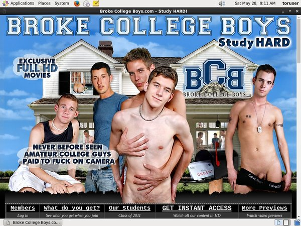 Brokecollegeboys.com With Credit Card