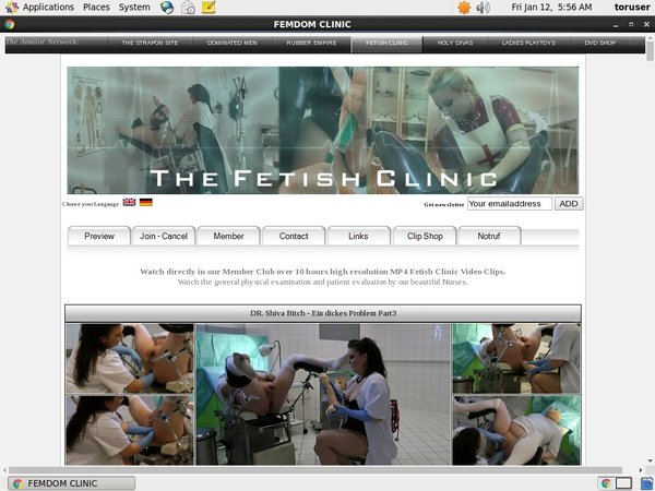 Get Into The Fetish Clinic