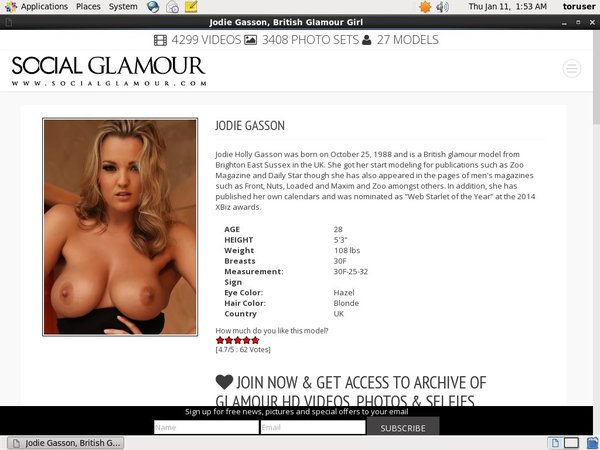 Jodie Gasson Account New