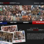 Czech Home Orgy Sign Up Form