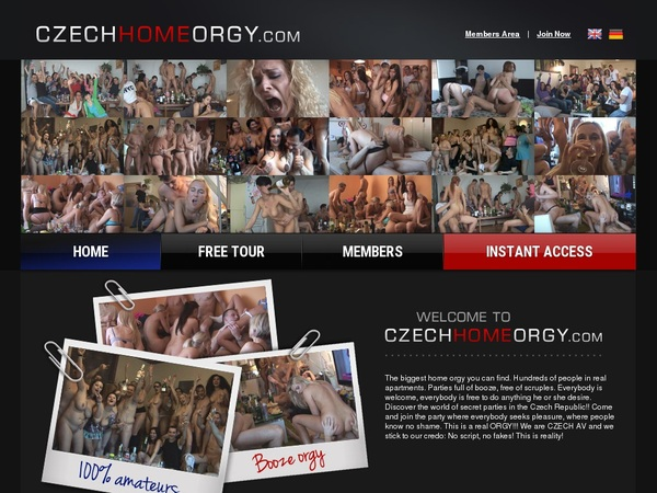 Czech Home Orgy Sign Up Form